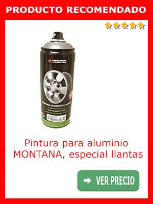 Pintura para aluminio MONTANA, especial llantas