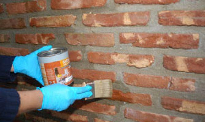 Pintura para ladrillos pintar ladrillos paso a paso - Pintura color ladrillo ...