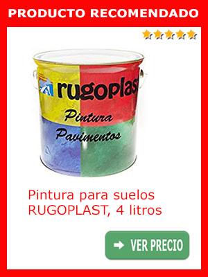 Pintura para pisos de cemento RUGOPLAST 4 litros