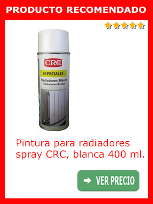 Pintura para radiadores en spray CRC 400 ml.