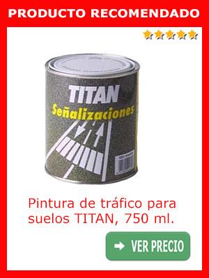 Pintura de tráfico para suelos TITAN 750 ml.