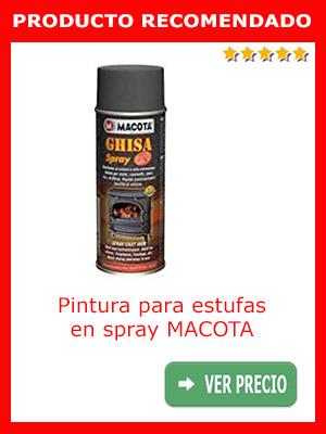 Pintura para estufas y chimeneas en spray MACOTA
