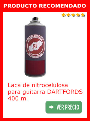 Laca de nitrocelulosa para guitarra DARTFORDS, 400 ml.