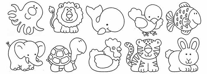 Desenho De Animais Do Zoológico Reunidos Para Colorir: Pintar Animales, Disfruta Pintando Y Coloreando Animales