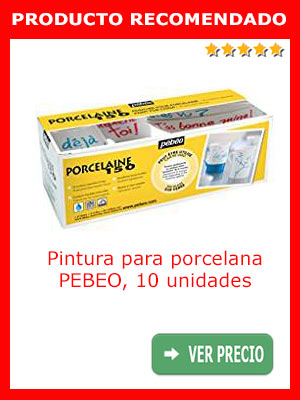 Pintura para porcelana PEBEO PORCELAINE 150, 10 unidades de diferentes colores