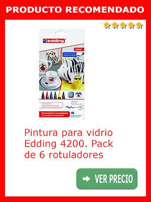 Pintura para vidrio EDDING 4200 pack de 6 rotuladores