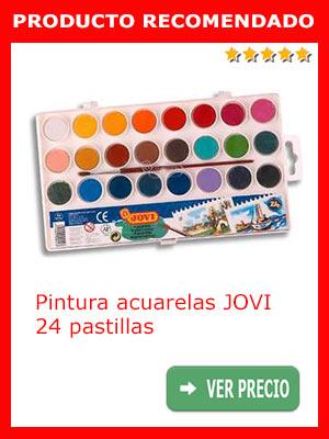 Pintura acuarela JOVI 24 pastillas