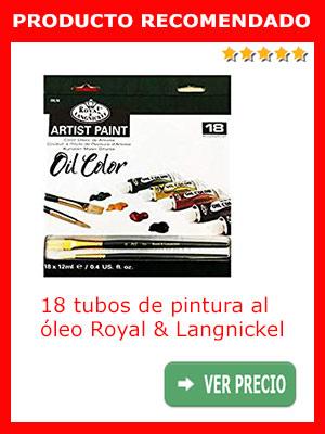 Pintura para óleo Royal & Langnickel, 18 tubos de 12 ml.