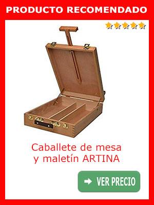 Caballete de mesa y maletín profesional ARTINA