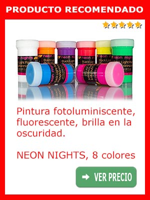 Pintura fotoluminiscente NEON NIGHTS 8 colores