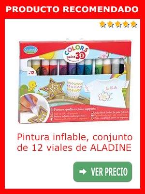 Pintura inflable conjunto de 12 viales de Aladine