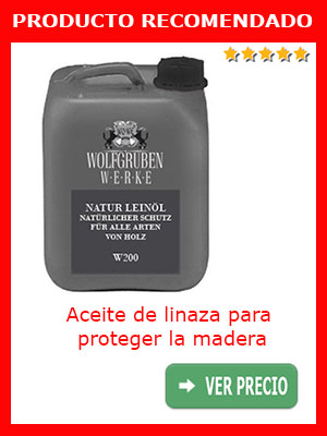 Aceite de linaza para proteger la madera (10 L)