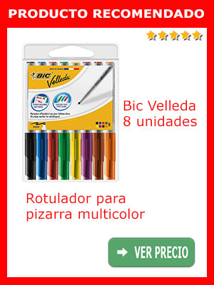 Velleda - 8 Rotuladores para pizarra multicolor, trazo medio