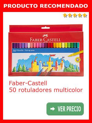Faber-Castell 554250 - Estuche 50 rotuladores, multicolor