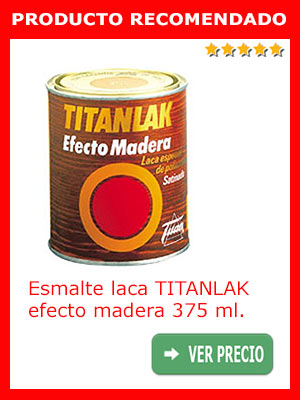 Esmalte laca TITANLAK efecto madera 375 ml.