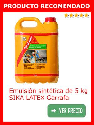 Emulsión sintética SIKA LATEX Garrafa de 5 kg
