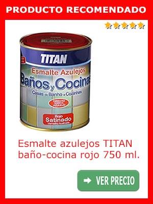 Esmalte azulejos baño y cocina rojo TITAN 750 ml.