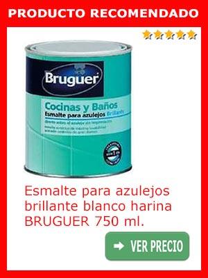 Esmalte para azulejos brillante blanco BRUGUER 750 ml.
