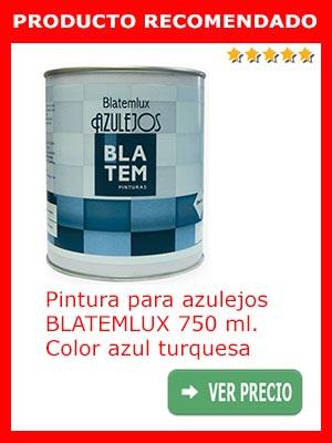 Pintura para azulejos azul BLATEMLUX 750 ml.
