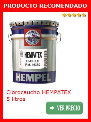Pintura de clorocaucho HEMPATEX negro 5 litros