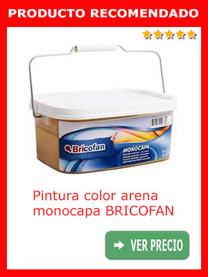 Pintura color arena monocapa BRICOFAN