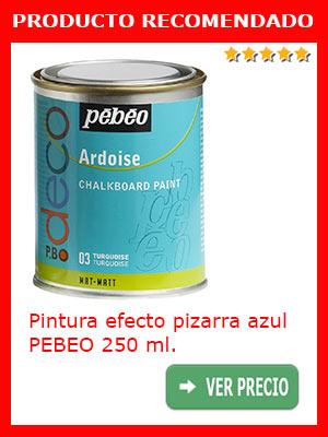 PIntura efecto pizarra azul PEBEO 250 ml.