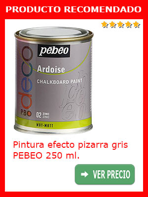 PIntura efecto pizarra gris PEBEO 250 ml.