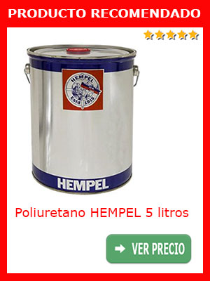 Pintura poliuretano HEMPEL gris aluminio 5 litros