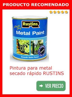 Pintura secado rápido para metales RUSTINS
