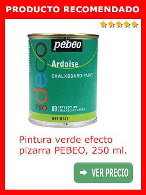 Pintura verde efecto pizarra PEBEO, 250 ml.