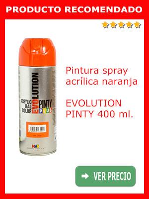 Pintura acrílica spray Naranja 400 ml Evolution Pinty