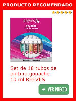 Set de 18 tubos de gouache 10 ml Reeves