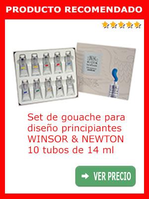 Set de gouache para diseño principiantes Winsor & Newton 10 tubos de 14 ml