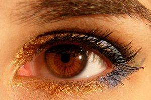 Pintar ojos marrones