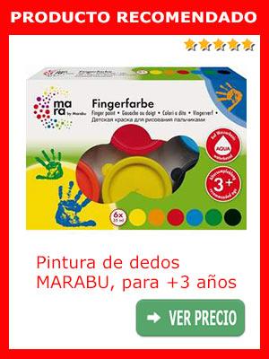 Pintura de dedos MARABU para niños de más de 3 años