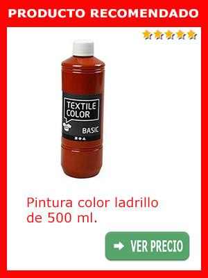 Pintura color ladrillo 500 ml.