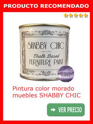 Pintura color morado muebles SHABBY CHIC