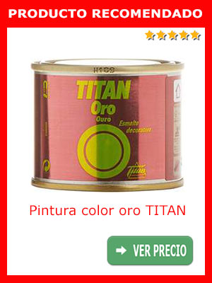 Pintura color oro Titan