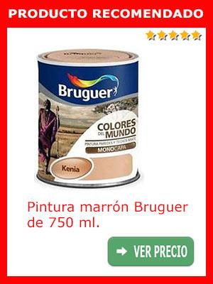 Pintura marrón Bruguer 750 ml