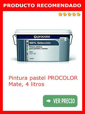 Pintura color pastel Procolor 4 litros