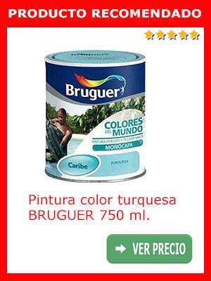 Pintura turquesa BRUGUER 750 ml.