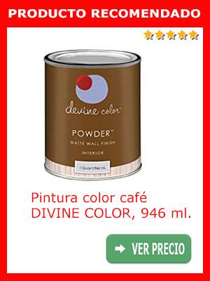 Pintura color café DIVINE COLOR 946 ml.