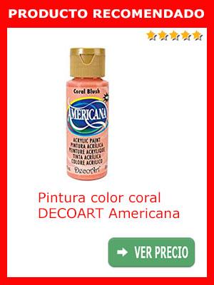 Pintura color coral acrílico DECOART Americana
