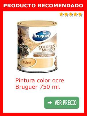 Pintura color ocre BRUGUER 750 ml.