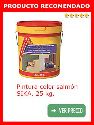Pintura color salmón SIKA 25 kg.