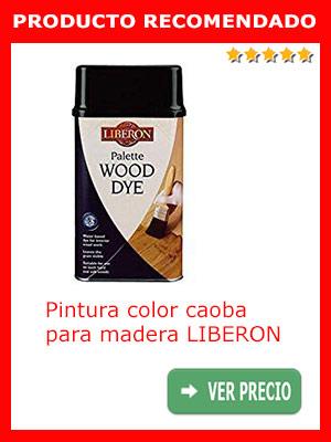 Pintura color caoba para madera LIBERON