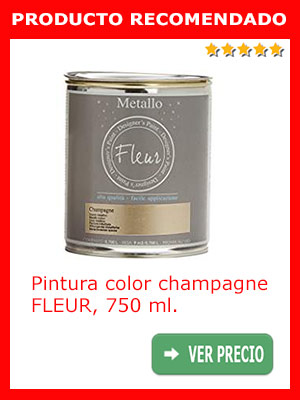 Pintura color champagne FLEUR 750 ml.