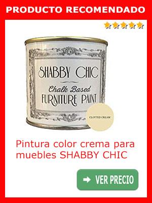 Pintura color crema para muebles SHABBY CHIC, 1 litro