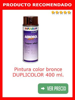 Pintura color bronce DUPLICOLOR 400 ml.