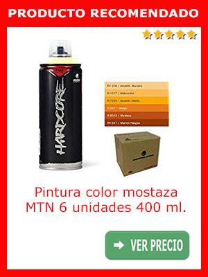 Pintura color mostaza MTN 6 unidades 400 ml.